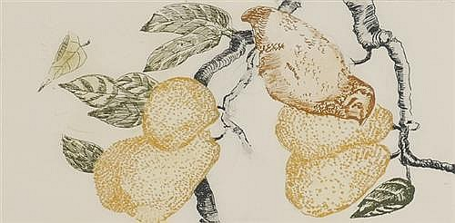 Patrick Hickey HRHA (1927-1998) THE FIRST DAY OF CHRISTMAS, A PARTRIDGE IN A PEAR TREE