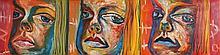 "Mark (""Rasher"") Kavanagh (b.1977) UNTITLED [THREE FACES] 1999"