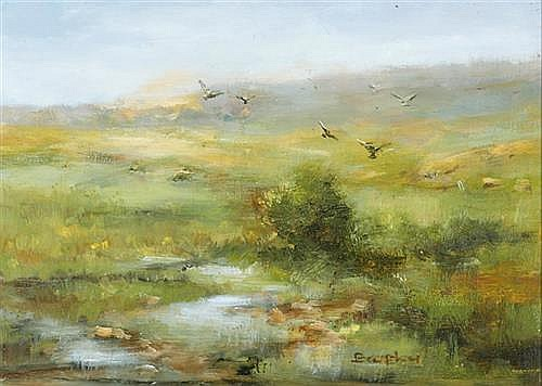 Elizabeth Brophy LANDSCAPE WITH BIRDS