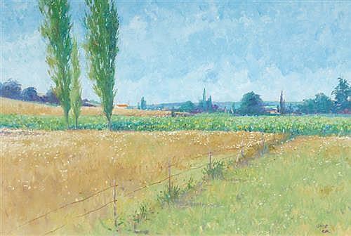 Brett McEntagart RHA (b.1939) SUMMER LANDSCAPE, DORDOGNE, FRANCE