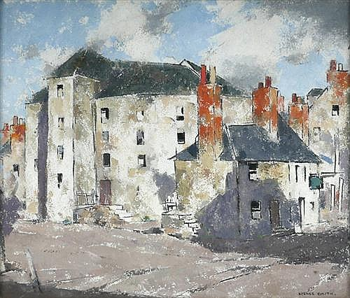 John Guthrie Spence Smith RSA (Scottish, 1880-1951) OLD MILL, PERTH, SCOTLAND