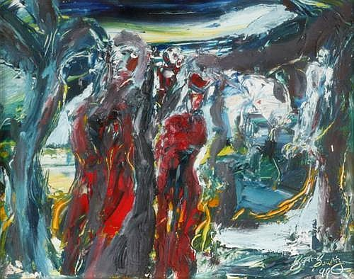 Gerard McGourty (b.1954) UNTITLED [LANDSCAPE WITH FIGURES], 1999