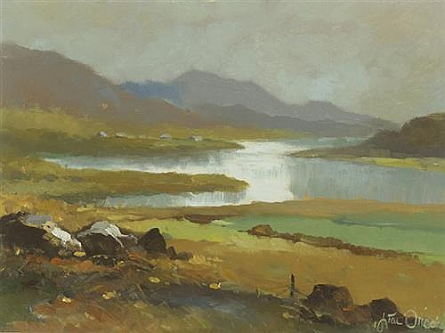 Liam Treacy (1934-2004) MISTY DAY, CONNEMARA, 1985
