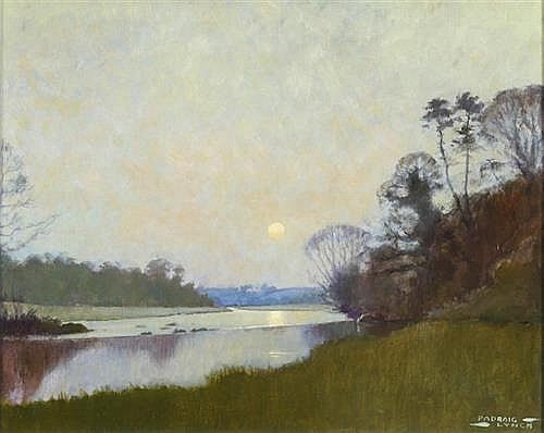 Padraig Lynch (b.1936) MOONRISE ON THE BOYNE, 1995
