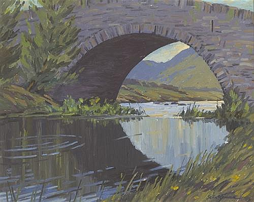 Seán O'Connor (1909-1992) BRIDGE ON THE LOE, KILLARNEY, 1965