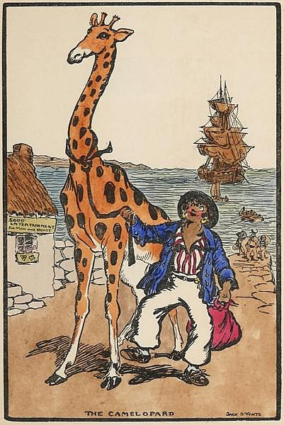 Jack Butler Yeats RHA (1871-1957) THE CAMELOPARD [A BROADSIDE]