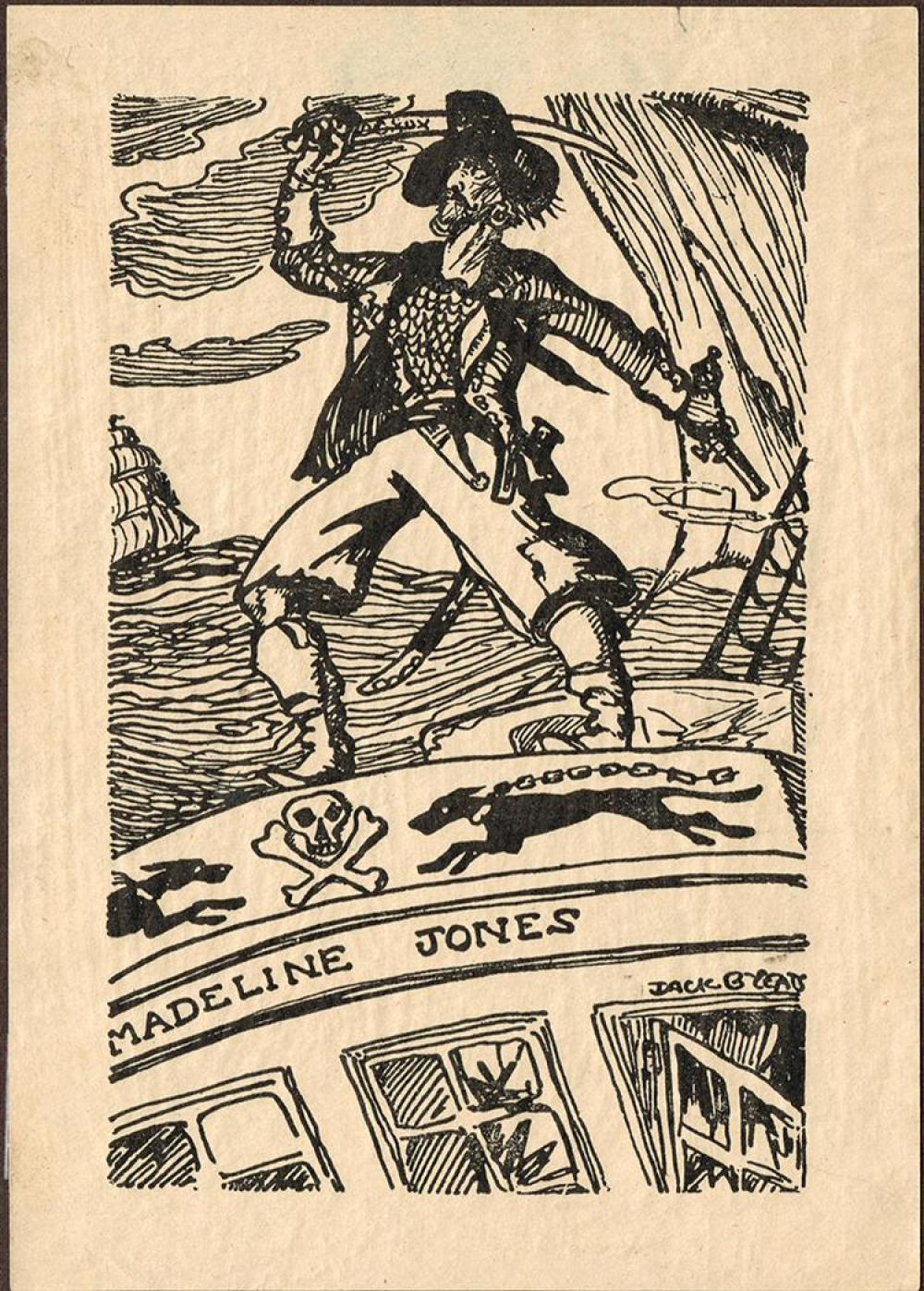 Jack Butler Yeats RHA (1871-1957) THE SCOURGE OF THE GULPH, JAMES FLAUNTY, 1903 and DESIGNED BOOKPLATE
