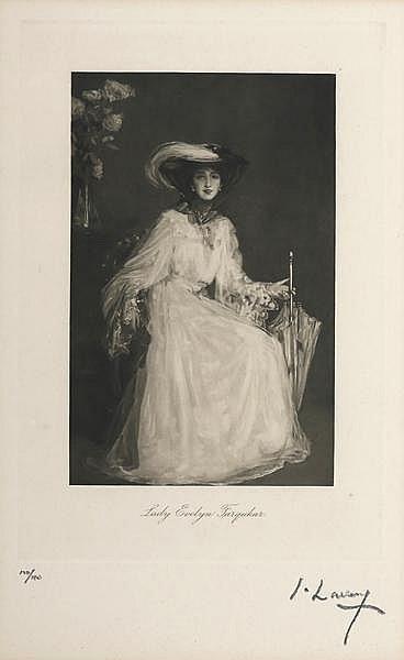 Sir John Lavery RA RSA RHA (1856-1941) LADY EVELYN FARQUHAR