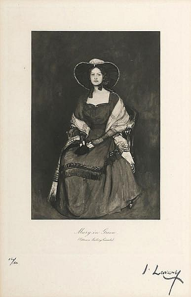 Sir John Lavery RA RSA RHA (1856-1941) MARY IN GREEN
