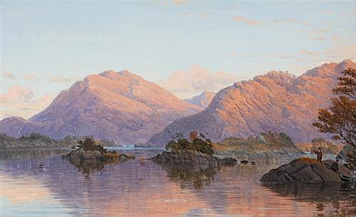 Bartholomew Colles Watkins RHA (1833-1891) KILLARNEY LAKES