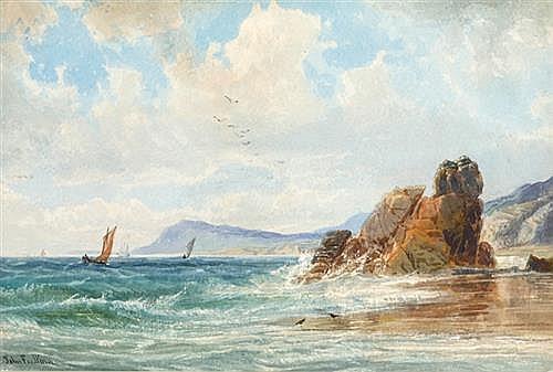 John Faulkner RHA (1835-1894) COASTAL SCENE