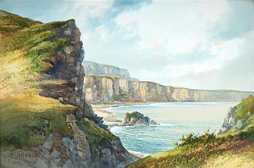 F. Thornley COASTAL SCENE