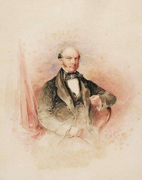 Edward Hayes RHA (1797-1864) PORTRAIT OF A GENTLEMAN, 1853