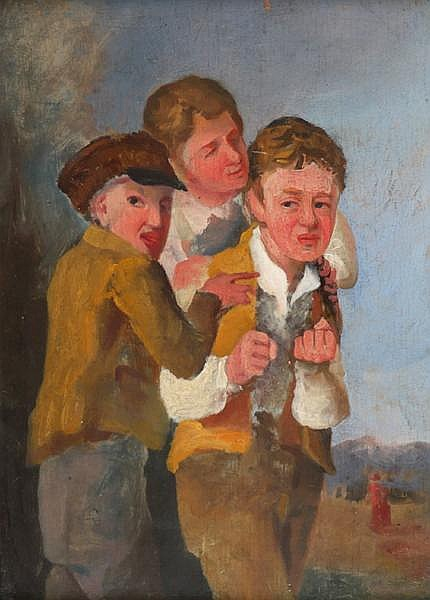 18th/19th Century English School GROUP OF THREE BOYS
