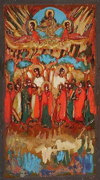Markey Robinson (1918-1999) BYZANTINE ICON, HEAVEN