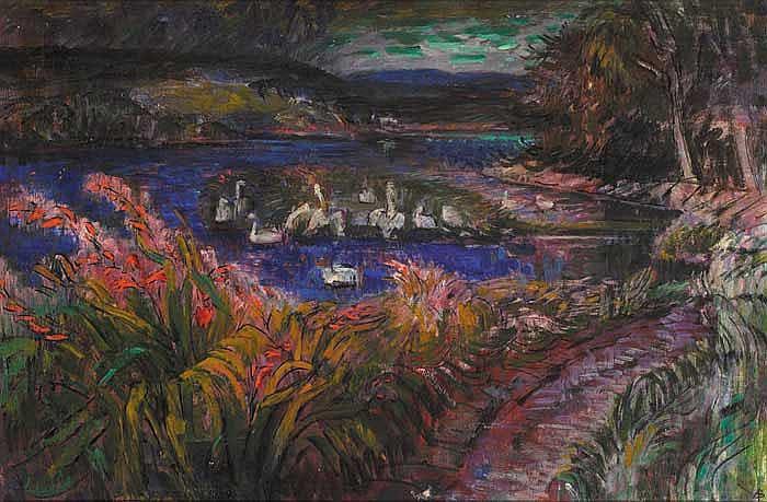 Alicia Boyle RBA (1908-1997) SWAN ISLAND, BANTRY