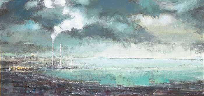 Peter Pearson (b.1955) SMOKESTACKS, DUBLIN BAY,
