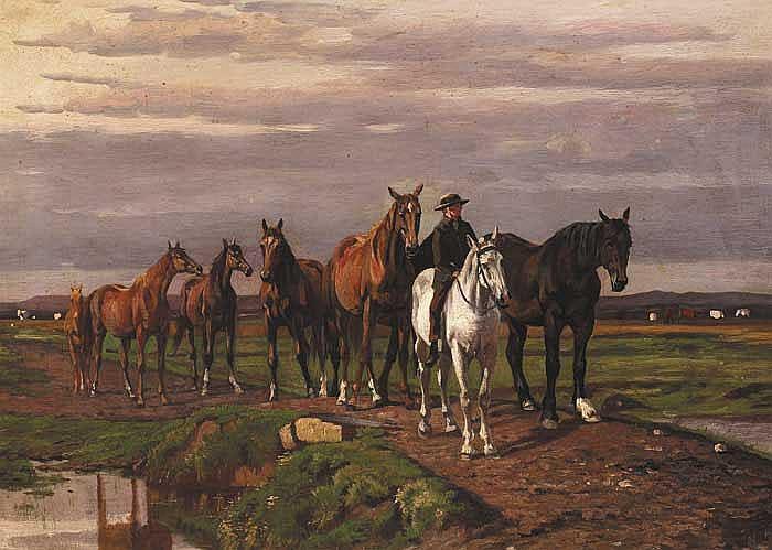 Augustus Nicholas Burke (1838-1891) MOUNTED RIDER