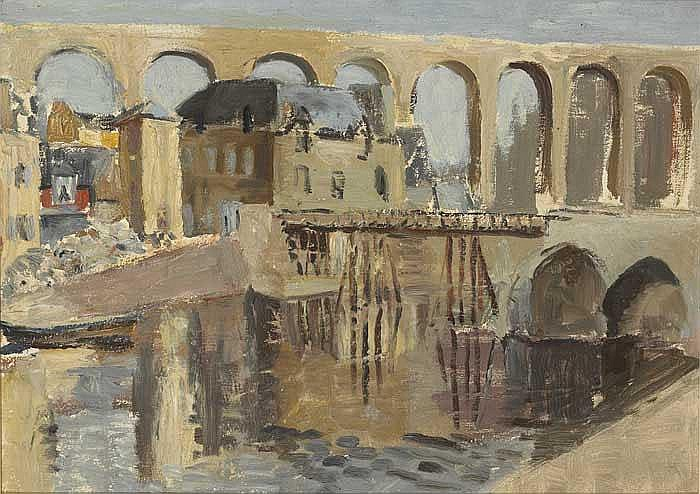 Violet McAdoo (1896-1961) RIVER AND AQUADUCT AT