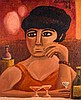 Christy Brown (1932-1981) GIRL AT A BAR, 1968, Christy Brown, Click for value