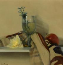 James English RHA (b.1946) GLASS WITH SPRING HERBS, 2007