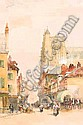 William Bingham McGuinness RHA (1849-1928) A CONTINTENTAL TOWN signed lower left watercolour over pencil heightened with white 41 by 27cm., 16 by, Bingham McGuinness, Click for value