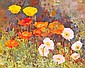 Geraldine M. O'Brien (b.1922) POPPIES signed lower left oil on canvas 46 by 56cm., 18 by 22in., Geraldine O'Brien, Click for value