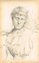 Sarah Henrietta Purser HRHA (1848-1943) SKETCHBOOK OF 20 WORKS INCLUDING PORTRAITS AND LIFE DRAWING
