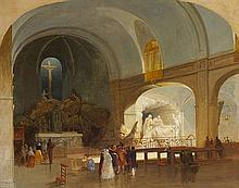 James Mahoney ARHA (1810-1879) THE CHURCH OF ST. ROCH, PARIS, 1844