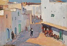 Sir John Lavery RA RSA RHA (1856-1941) A STREET IN TANGIER