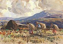 James Humbert Craig RHA RUA (1877-1944) TURF GATHERERS
