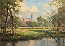 Frank McKelvey RHA RUA (1895-1974) VIEW OF ARMAGH CATHEDRAL