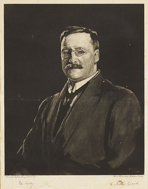 1921: Michael Collins and Arthur Griffith, Sir John Lavery lithograph proofs