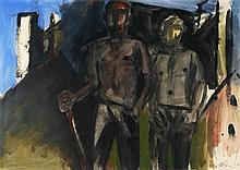 Michael Kane (b.1935) TWO WORKERS WITH A MILL