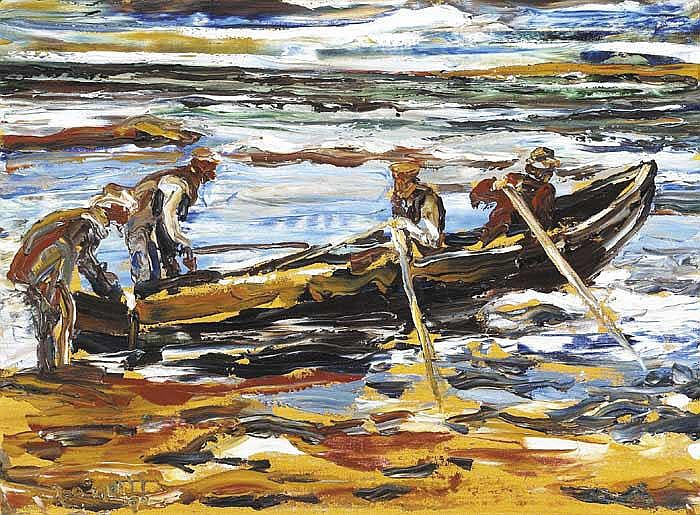 Liam O'Neill (b.1954) FISHERMEN, DINGLE, COUNTY