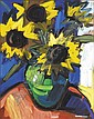 Colin Davidson RUA (b.1968) SUNFLOWERS signed, Colin Davidson, Click for value