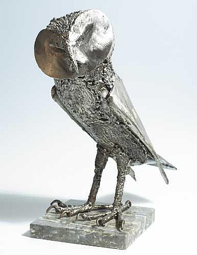 John Coll (b.1956) OWL, 1985 artist's label