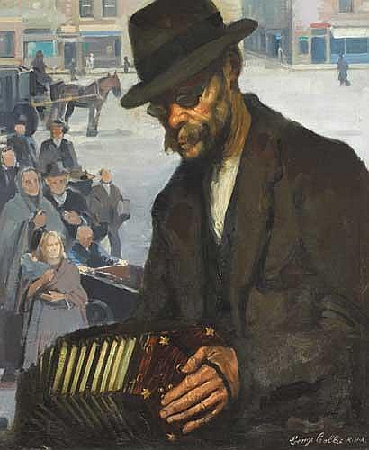 George Collie RHA (1904-1975) STREET ACCORDION