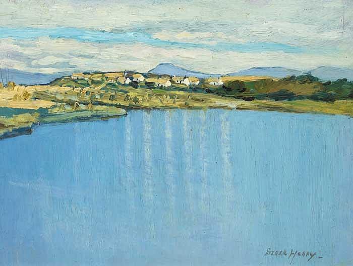 Grace Henry HRHA (1868-1953) ACHILL VILLAGE signed