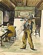Simon Coleman RHA (1916-1995) FIDDLER watercolour, Simon Coleman, Click for value