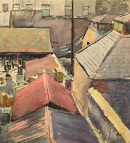 Simon Coleman RHA (1916-1995) BACKYARDS, LIFFEY