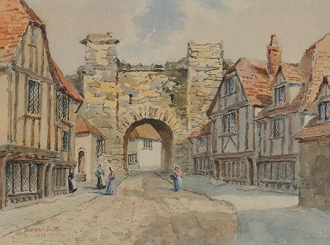 Lancelot Bayly (1869-1952) - BRETON VILLAGE, 1947