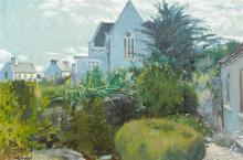 Maurice MacGonigal PPRHA HRA HRSA (1900-1979) LANDSCAPE WITH CHURCH, ROUNDSTONE, 1962