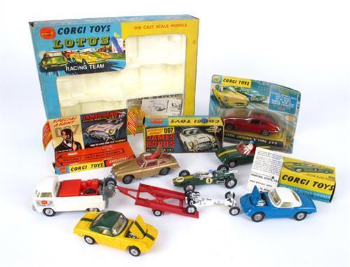 Corgi Toys James Bond Aston Martin Jaguar E Type Lotus Ela
