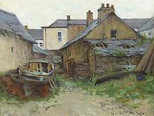 James English RHA (b.1946) OLD BOATS, KNIGHTSTOWN, VALENTIA ISLAND