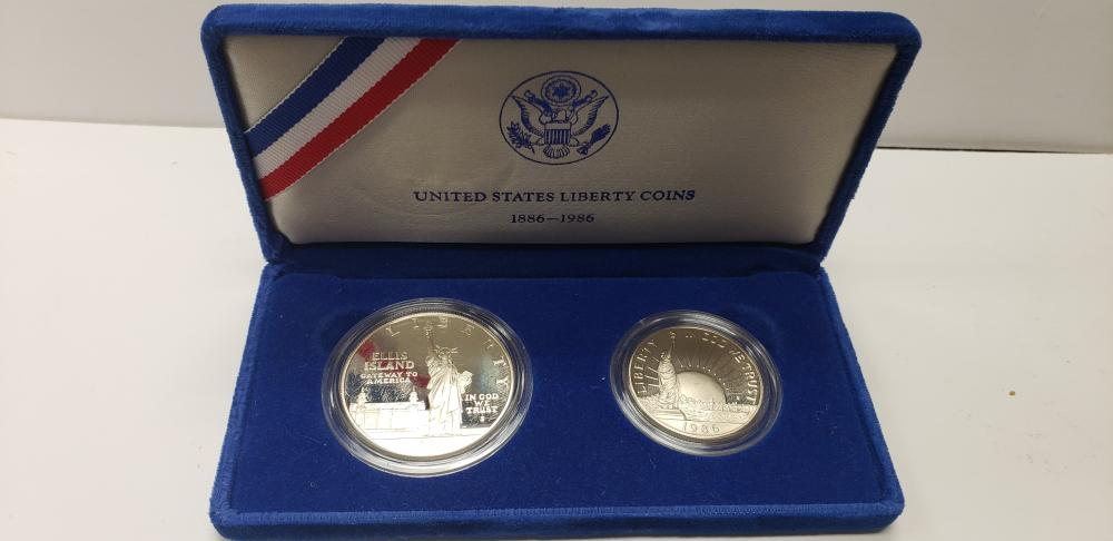 1886-1986 S Proof United States Liberty Coin Set - Dollar and Half Dollar