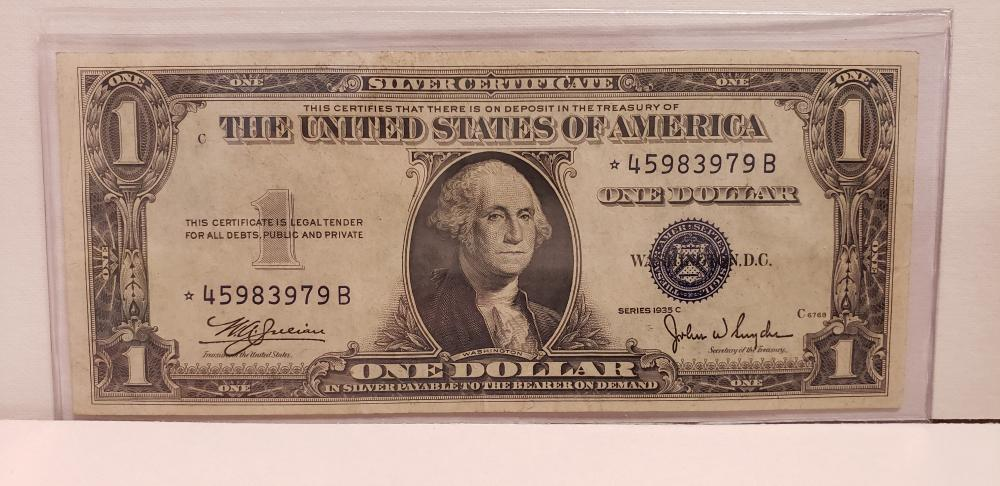 1935 $1 One Dollar Star Note Silver Certificate