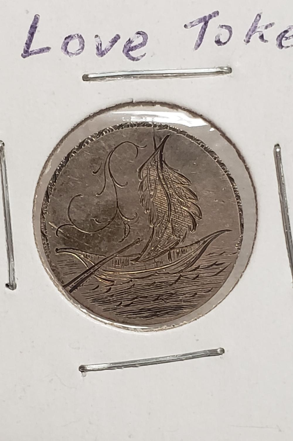 Love Token on Seated Dime