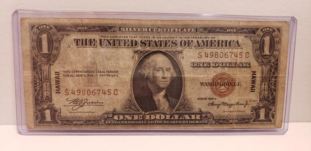 1935 $1 One Dollar Hawaii Silver Certificate