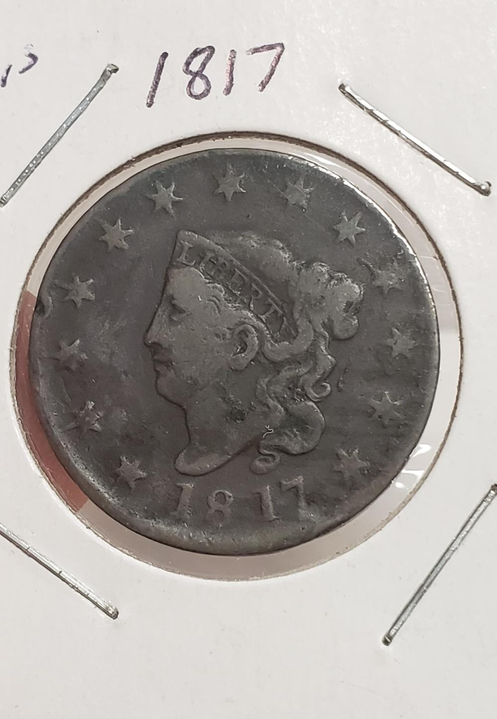 1817 Large Cent 13 Star Variety